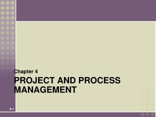 project and process  management