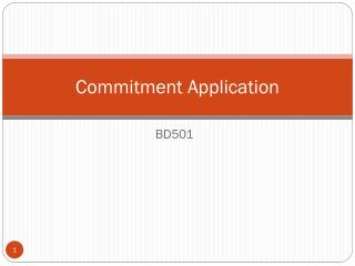 Commitment Application