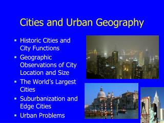 Cities and Urban Geography