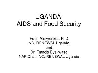 UGANDA: AIDS and Food Security