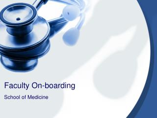 Faculty On-boarding