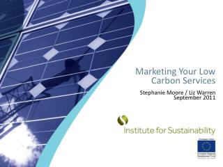 Marketing Your Low Carbon Services