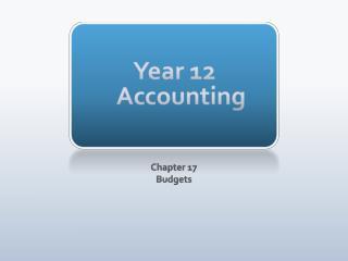 Year 12 Accounting