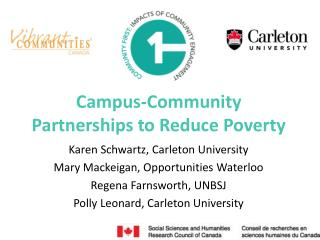 Campus-Community Partnerships to Reduce Poverty