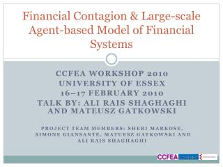 Financial  Contagion &  Large-scale Agent-based Model of Financial Systems