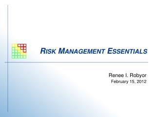 Risk Management Essentials