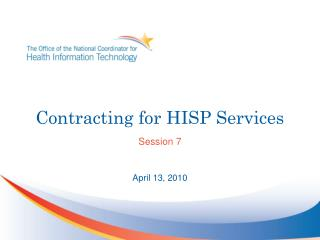 Contracting for HISP Services