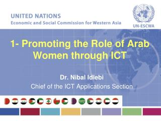 1- Promoting the Role of Arab Women through ICT