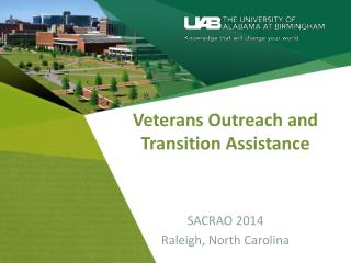 Veterans Outreach and Transition Assistance