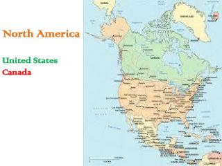 North America United States Canada