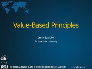 Value-Based Principles