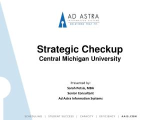 Strategic Checkup  Central Michigan University