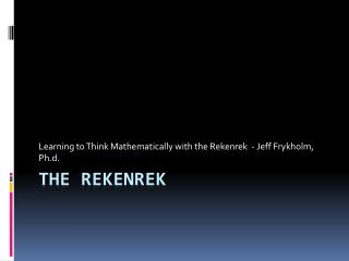 The  Rekenrek