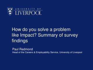 How do you solve a problem like Impact? Summary of survey findings