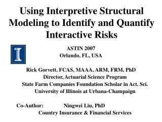 Using Interpretive Structural Modeling to Identify and Quantify Interactive Risks