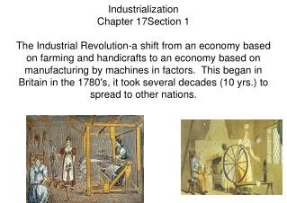 Industrialization Chapter 17Section 1