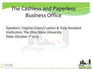 The  Cashless and Paperless Business Office