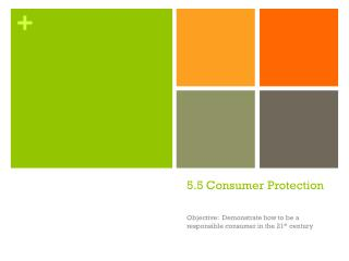 5.5 Consumer Protection