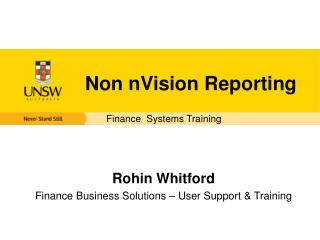 Non  nVision  Reporting