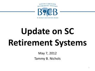 Update on SC Retirement Systems
