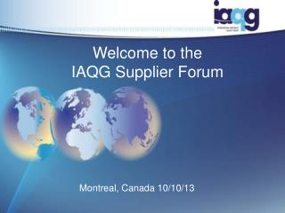Welcome to the IAQG Supplier Forum