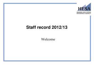 Staff record 2012/13