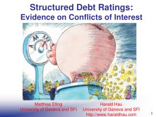 Structured Debt Ratings:  Evidence on Conflicts of Interest
