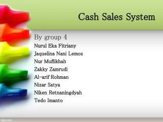 Cash Sales System