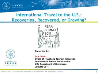 International Travel to the U.S.: Recovering, Recovered, or Growing?