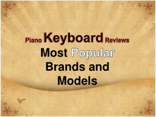 piano keyboard reviews – most popular brands and models