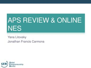 APS REVIEW & online NES