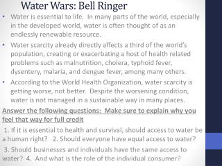 Water Wars: Bell Ringer