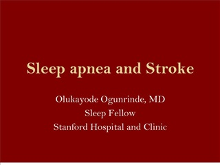 sleep apnea and stroke