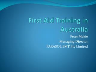 First Aid Training in Australia