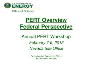 PERT Overview Federal Perspective