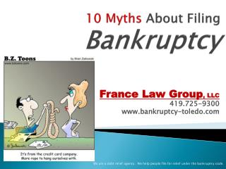 10 Myths  About Filing  Bankruptcy