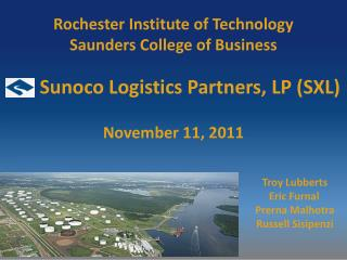 Rochester Institute of Technology Saunders College of Business November 11, 2011