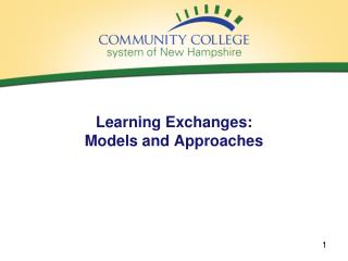 Learning Exchanges:  Models and Approaches