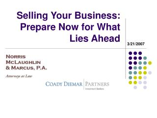 selling your business: prepare now for what lies ahead