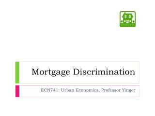 Mortgage Discrimination
