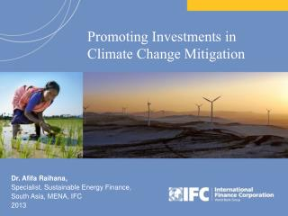 Promoting Investments in Climate Change Mitigation