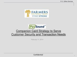 Companion Card Strategy to Serve Customer Security and Transaction Needs