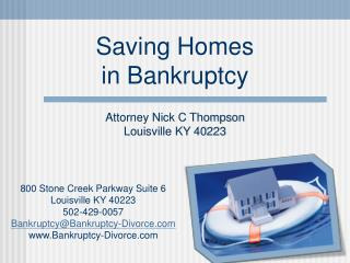 Saving Homes in Bankruptcy