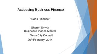 Accessing Business Finance