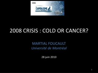 2008 CRISIS : COLD OR CANCER?