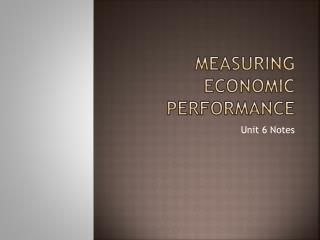 Measuring Economic Performance