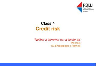Class 4 Credit risk