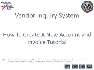 Vendor Inquiry System