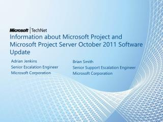 Information about Microsoft Project and Microsoft  Project  Server October 2011 Software Update