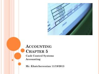 Accounting  Chapter 5